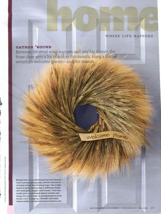 Better Homes And Gardens Featured One Of Our Wreaths