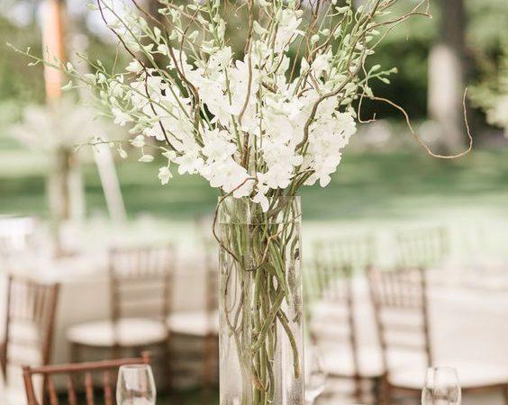 curly willow wedding branch centerpiece