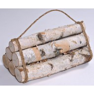 White Birch Firewood Bundle - 6 Log Decorative Bundle
