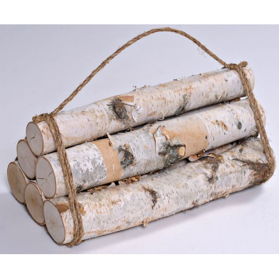 White Birch Firewood Bundle - 6 Log Decorative Bundle