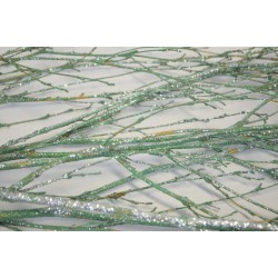 Dried Deco Branch - Green Glittered 3-4ft