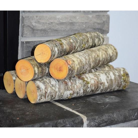 Red Alder Firewood Logs Loose - 3 Decorative Large Logs