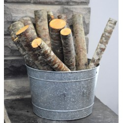 Red Alder Firewood Logs Loose - 6 Decorative Medium Logs