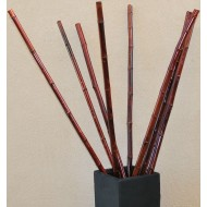 Thick Decorative Bamboo - Mahogany color