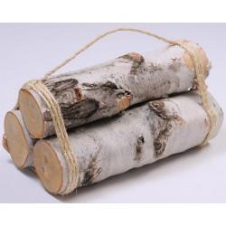 White Birch Firewood Bundle - 3 Log Decorative Bundle