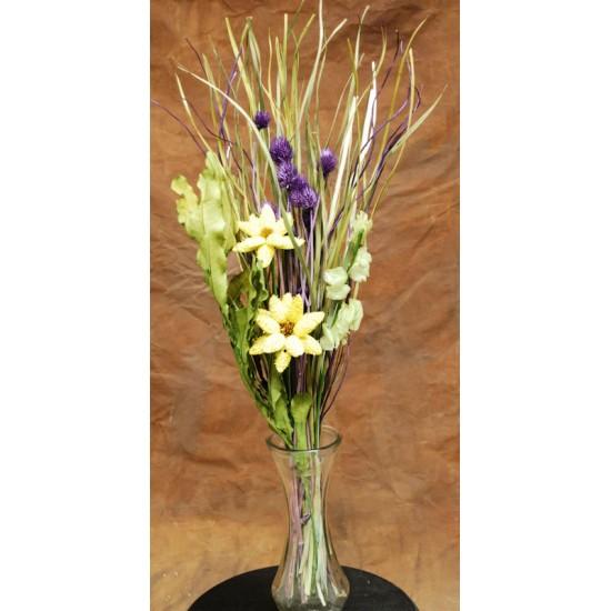 Dried Daisy Purple Bouquet