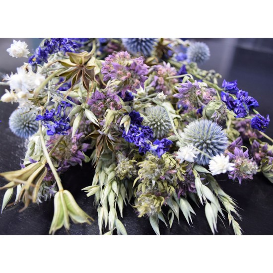 Dried Flower Blue Bouquet Garden Bunch