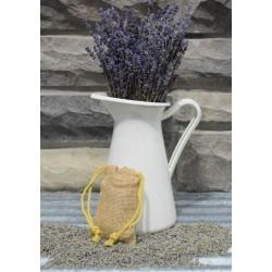 Lavender Bud Burlap Sachets - Organic & Kosher certified lavender buds
