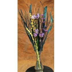Dried Purple Yellow Flower Bouquet
