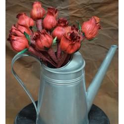 Red Corn Husk Rose Buds
