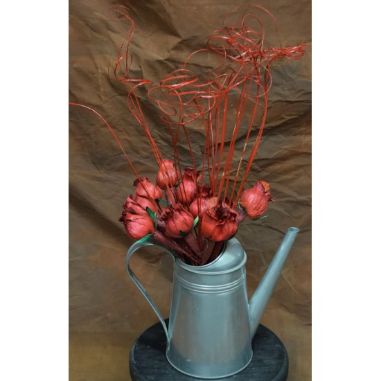 Red Corn Husk Rose Buds