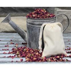 Rose Buds and Petal Muslin Sachets