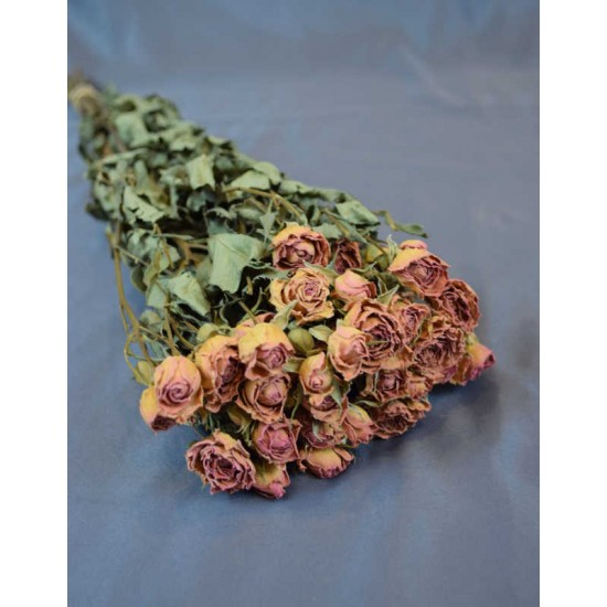 Mini Dried Rose Bouquet - Pink