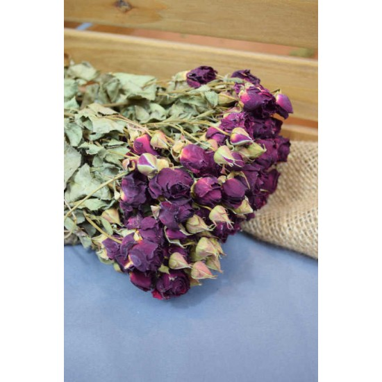 Mini Dried Rose Bouquet - Red