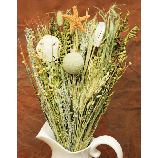 Sea Urchin and Starfish Decorative Floral Bouquet