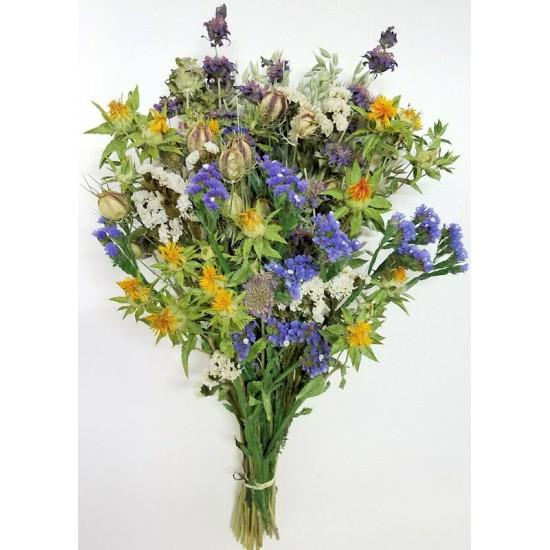 Dried Happy Day Blue Flower Bouquet