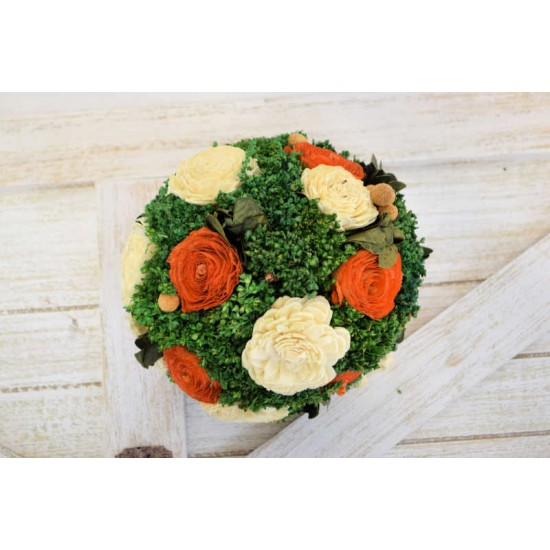 Large Dried Flower Decor Balls - 6-8 inches
