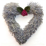 Heart Shaped Lavender Wreath