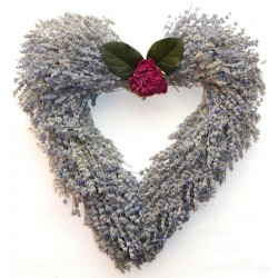 Heart Shaped Lavender Wreath