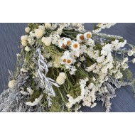 Dried White Garden Flower Bouquet
