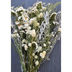 Dried White Garden Flower Bouquet