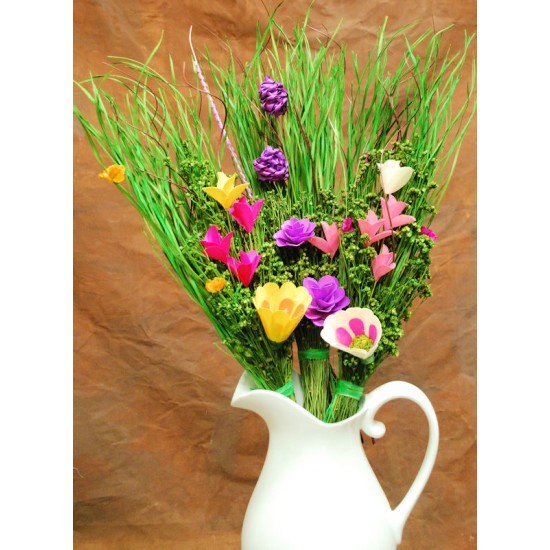 Wood Flower Bouquets