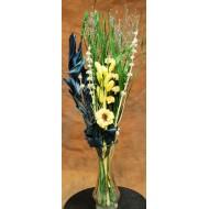Yellow Green Blue Flower Bouquet