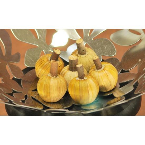 Dried Mini Corn Husk Wild Apples with Stem