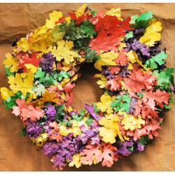 Dried Fall Leaves Wreath Large