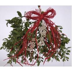 Fresh Mistletoe Bough Bouquet