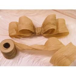 Natural Paper Ribbon - 3 rolls of Brown