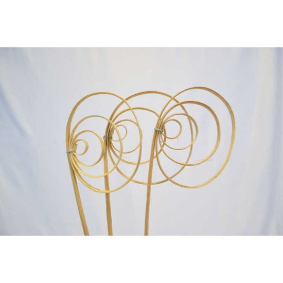 Dried Cane Spirals - Natural