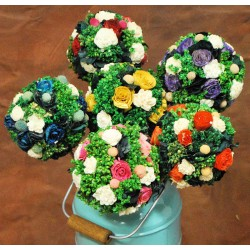 Dried Mini Flower Decor Balls Stemmed