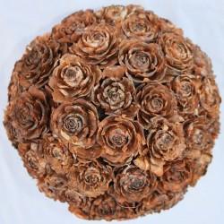 Pine Cone Rose Ball 6 inch