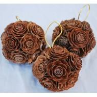 Mini Pine Cone Rose Balls