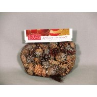 Mini Cinnamon Scented Pine Cones Bag with Cinnamon Sticks