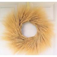 Natural Wheat Wreath - 19 inch