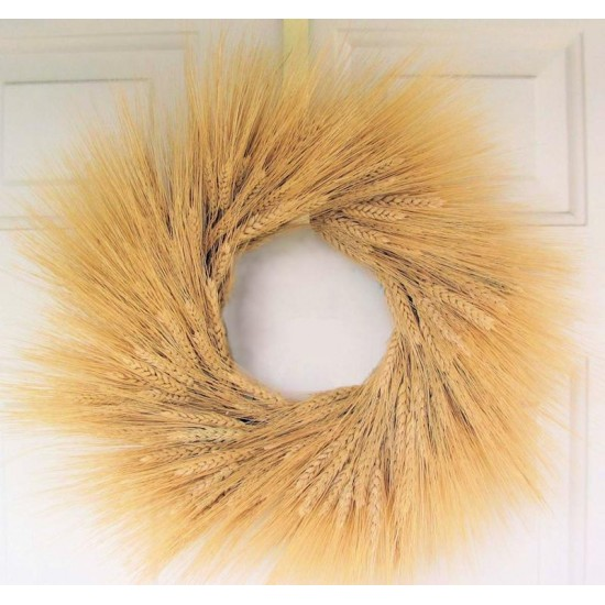Natural Wheat Wreath - 19 inch