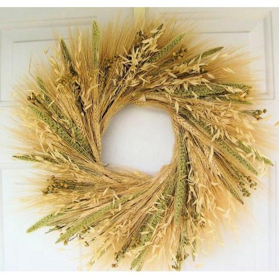 Mixed Grain Wheat Wreath - 19 inch