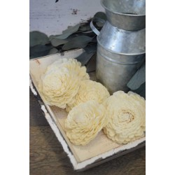 Wood Amelia Rose Flowers (Belli)