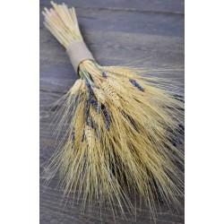 Vintage Wheat and Lavender Bouquet -  10oz