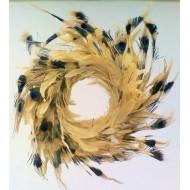 Schlappen w/Stencil Peacock Wreath 18 inch diameter