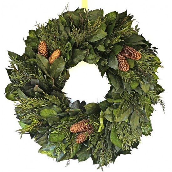 Celebrate Evergreens Wreath - Dried Wreath