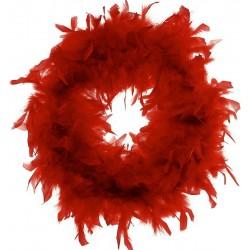 Red Chandelle Feather Wreath 18 inch diameter