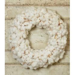 Dried Cotton Boll Wreath