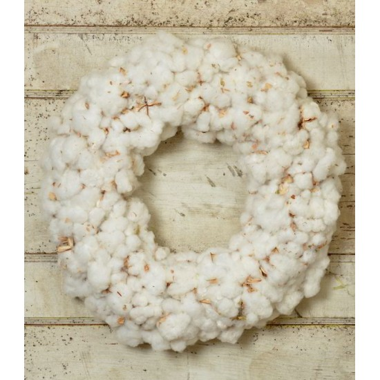 Dried Cotton Boll Wreath