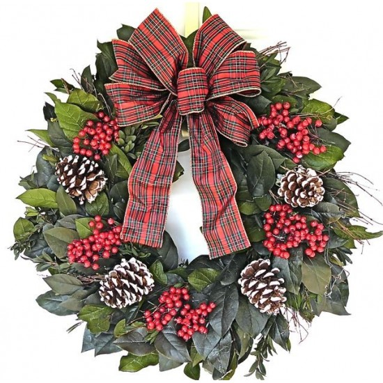 Dried Deck the Halls Wreath