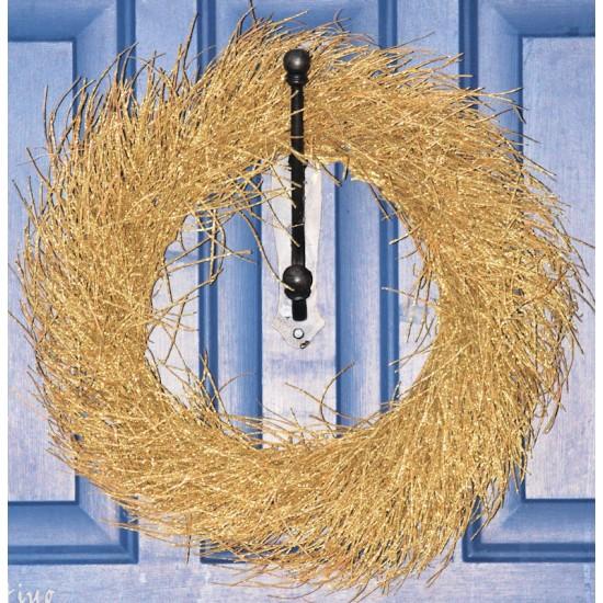 Decorative Gold Twig Wreath