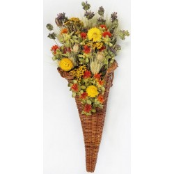 Dried Flower Cornucopia