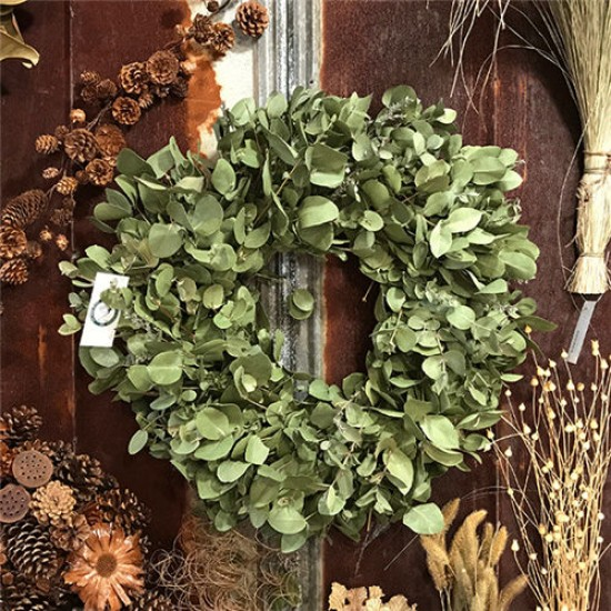 Dried Eucalyptus Wreath - 22 inch